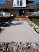 Concrete form work and finishing
