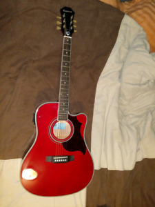 Epiphone FT-350SCE guitar with min -etuner