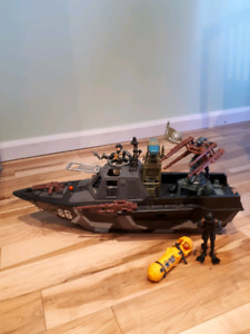 Large army boat for sale