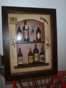 quirky wine shadowbox