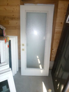 steel door 32x79 with full frosted glass Brand new