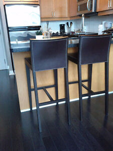 CB2 (Crate & Barrel) Brown Bar Chairs