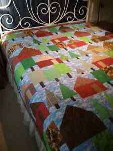 JUST REDUCED--Locally made Quilt   'Cabin in the Woods' Kingston Kingston Area image 2