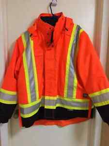 5-in1 Work King orange safety jacket Kitchener / Waterloo Kitchener Area image 1