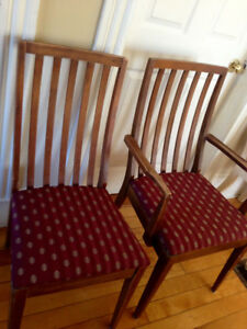 Beautiful Mid Century Modern Solid Wood Chairs