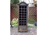 Wooden wine rack for 24 bottles