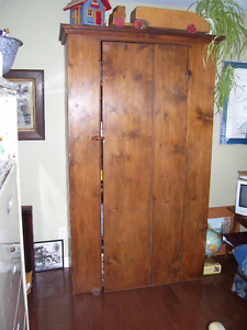 OLD WIDE BOARD CUPBOARD