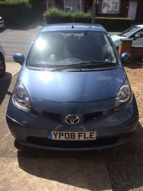 Toyota Aygo Blue 2008 1.0 3dr