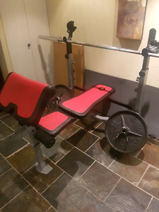 Ironman bench press with 200lbs of weights