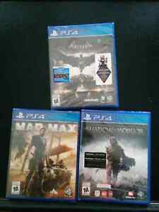 3 ps4 games $20 each