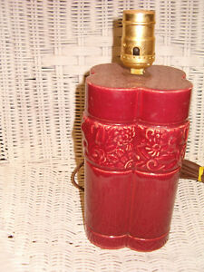 ART DECO RED LAMP PERFECT CONDITION Lower Price