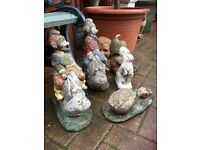 Vintage gnomes & figures for garden from £8