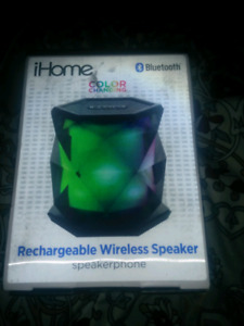 IHome Bluetooth color changing wireless speaker