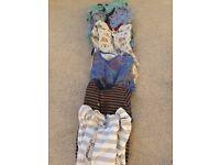 Large 9-12 baby boy bundle and bumbo
