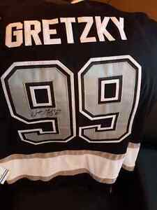 NHL gretzky autographed jersey oilers kings