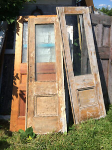 old doors from a farm
