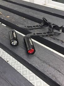 Lezyne Micro Drive Front And Rear Light Set | Black | USB Rechargeable | RRP £70