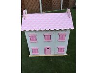 Wooden Doll House + Wooden Accessories
