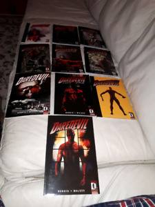 Daredevil by bendis and Brubaker entire run. 16 graphic novels