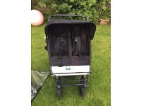 Double mountain buggy with carrycots