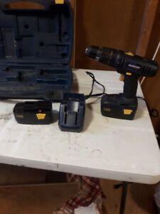 Mastercraft 18v Cordless Drill with 2 batteries and charger