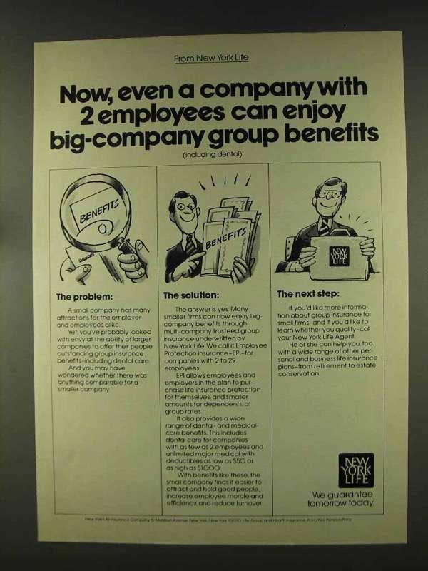 1977 New York Life Insurance Ad - Group Benefits