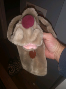 Wrinkles hand puppets different sizes.