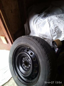 205/60R16 4 summer tire with rims, 350$.  for 2012 prius v
