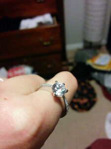 Size 7 Sterling Silver + CZ Stone Ring - Brand New Kitchener / Waterloo Kitchener Area image 3