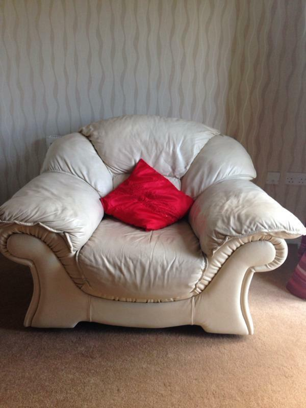 Dfs Leather Cuddle Chair 2 Seater Sofa In Bradford