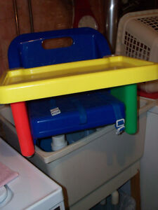 Spacesaver booster seat, replaces highchair