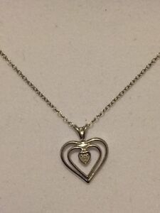 Heart Pendant with Genuine Diamond - Best Offer Takes It