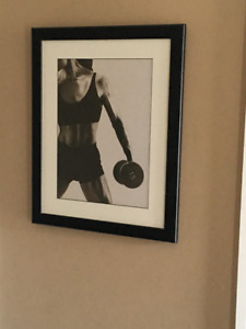 Framed workout picture