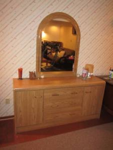 Matching Mirrored Dresser and Armoire for sale