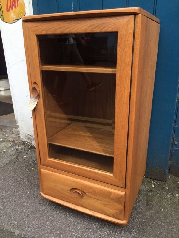 1980s Mint Condition Ercol Hi fi Cabinet. Vintage / Retro / Record ...