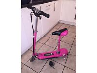 Girls Pink E-Skoot 24V Electric Scooter with removable seat & charger. Only 3 months old!