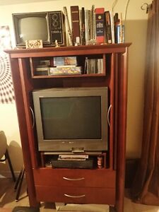 Solid wood entertainment cabinet London Ontario image 1