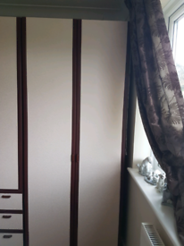 Double wardrobe large top shelf