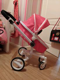 Kids Silver Cross toy pram pink
