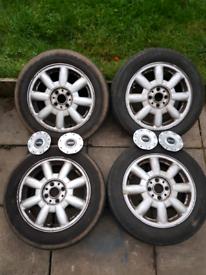 """Alloy Wheels 4X100PCD 15"""" 5.5J Mini One"""