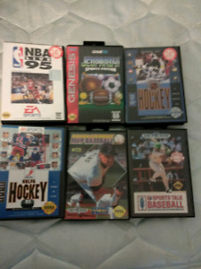 6 Sega Genesis games for sell or trade