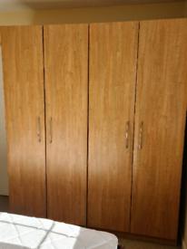 Double Oak Wardrobes