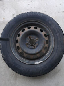 4- 185/70R14  Snow Tires on Rims and 4 All Season Tires off rims