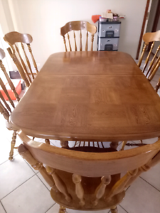 Six Seat Timber Dining Table & Chairs