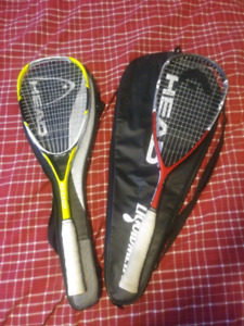 Pair of squash rackets. Like new