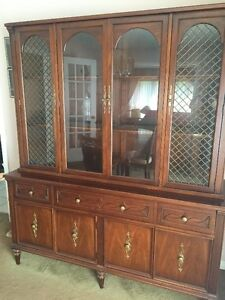 Gibbard Dining Table, China Buffet and Hutch with 4 Chairs