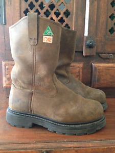 Work Boots- Dickies rouge wellington- Size 8
