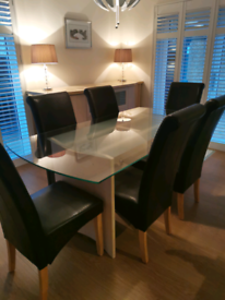 Gautier Dining Room Table, 6 chairs, Sideboard and Coffee Table