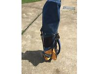 Junior wilson golf clubs and bag