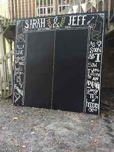 Wedding Chalkboard Backdrop